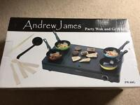 Brand new Party wok and grill set