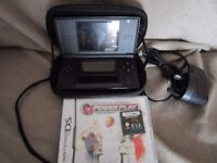 Black Nintendo DS Lite Bundle with Two Nintendo DS Games and charger, Stylus & case In original Box