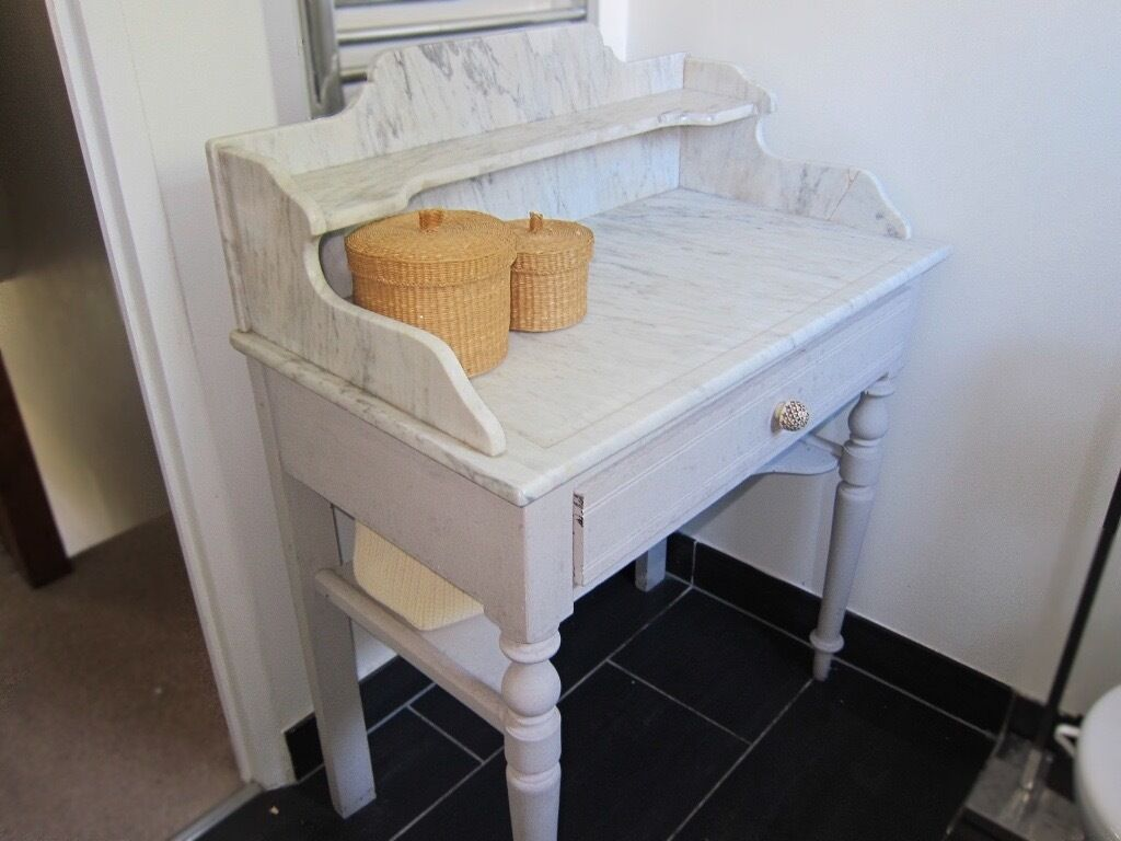 Marble top vanity furniture