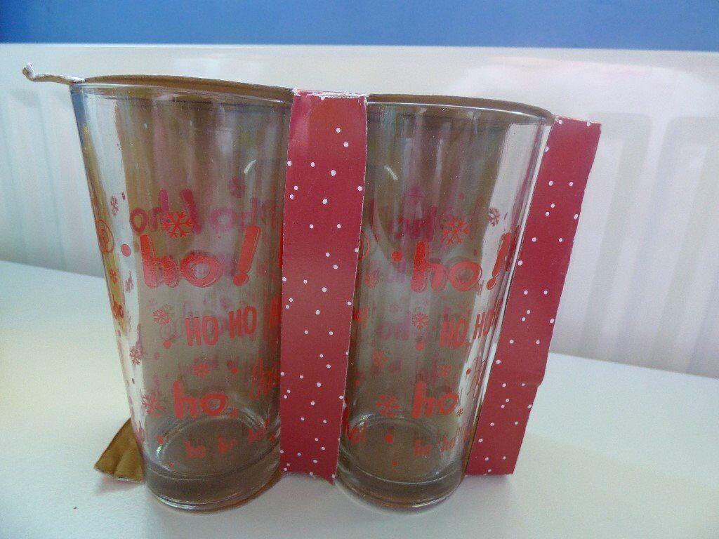 Christmas Drink Glasses NEW