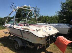 Searay 160BR bowrider with wakeboard tower (outdrive needs attention)