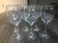 6 wine glasses