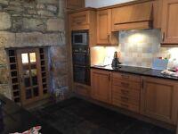 Wooden Kitchen with granite worktops