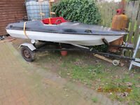 Speed boat, Fishing boat, spares or rapairs NO TRAILER