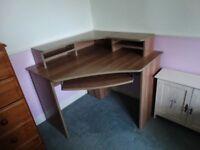 Ferrera Corner Desk, Oak Effect, 740 x 1000 x 1000mm