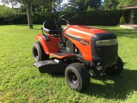 "Ariens Husqvarna Ride On Lawnmower. 17.5HP Briggs and Stratton Engine. 42"" cut. 6 speed and 6 height"