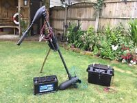 HASWING OSAPIAN 55LBS ELECTRIC OUTBOARD MOTOR AND ACCESSORIES