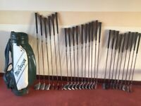 25 used golf clubs and bag. £50 (£2 per club and free bag).