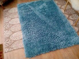 Duck egg blue rug
