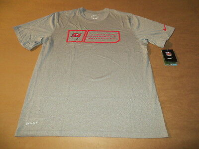 Tampa Bay Buccaneers Limited Edition Men S Nike Dri Fit T Shirts Gray New