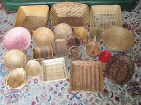 Assorted Baskets - Various Sizes - Ideal for Shop/Christmas/Market displays or Raffle Prizes