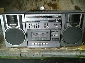 Hitachi 1980s boom box