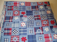Blue/Red/White Cotton Fabric - Never Used