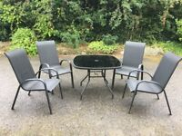 Garden Patio Furniture Set, Table and 4 chairs