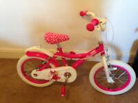 "Girls 16""princess bike"