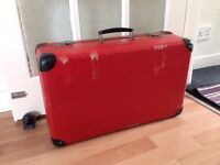 Vintage Suitcase KAZETO Made in Czechoslovakia Red Hard Suitcase