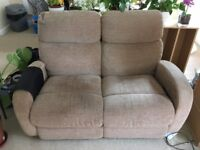 Reclining two seat sofa for sale in as new condition - price negotiable