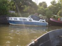 Norman 25 ft cabin cruiser 1968 restoration project with Yamaha 9.9 hp 4 stroke outbourd
