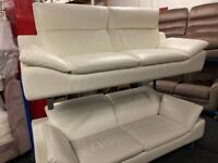 NEW / EX DISPLAY ScS PRESTWOOD LEATHER 3 + 3 SEATER SOFAS, SUITE, SOFA 70% Off RRP 70%