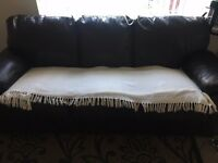 +++ 2 x 3 Seater Leather Sofa's FREE To Collector +++