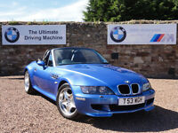 BWW Z3 M Roadster, 3.2 (S50 Engine), Only 57k Miles, Estoril Blue, 1 Year MOT