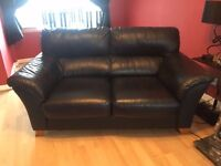 1 x 3 seater and 1 x 2 seater leather suite