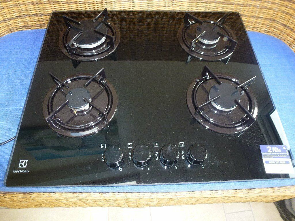 New Electolux Black Gas on Glass Hob