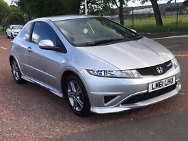 (61) Honda Civic 1.3 type s , mot - April 2018,only 38,000 miles,service history,focus,astra,golf