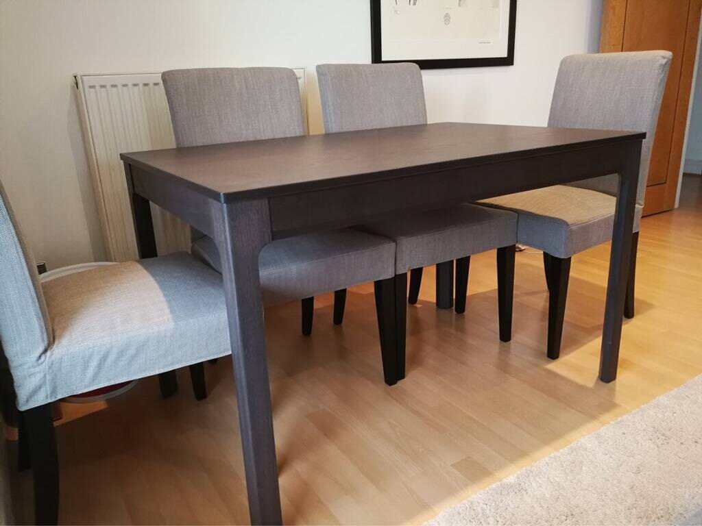 Ikea Ekedalen Dining Table 6 X Henriksdal Chairs