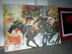 Large Oil Canvas horse