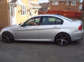 """BMW 325i M SPORT , 08reg, 3.0 PETROL 6sp , SILVER , FSH , 19"""" ALLOYS , MOT AUG , BLACK LEATHER"""