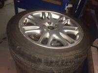 Genuine Set of R17 Alloy Wheels With Tyres