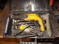 De-Walt 110 volt SDS Combination Hammer drill, with carrying case.
