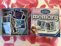 Frozen Memory Card Game
