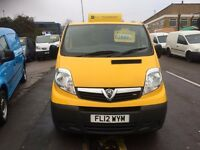 VAUXHALL VIVARO VAN 2.0CDTI FULLY LOADED 2012/12REG 3 MONTH WARRANTY £3999 PLUS VAT
