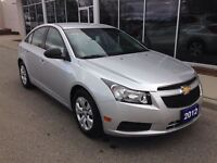 2012 Chevrolet Cruze LS Automatic, One Owner, Low Kms.