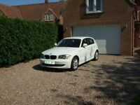 BMW118D 2.0LTR £30.00 Road tax in stunning white , with 2 previous owners