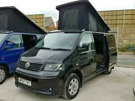 2007 Metallic Black VW Transporter, VW, T5 Camper, Campervan, Day Bus, 4 Berth, Pop Top.