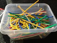 Box of plastic connecting building strawers