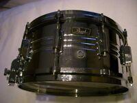 "Pearl 4914 Jupiter alloy snare drum 14 x 6 1/2"" - Japan - '70s - Ludwig Supersensitive homage."