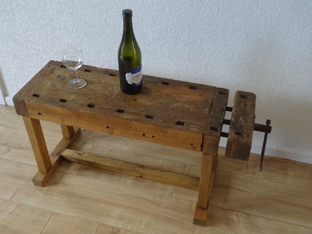 woodworkers wooden vice coffee table - industrial style coffee table ...