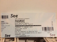 1x Standing Ticket for Paramore @ Cardiff Motorpoint Arena