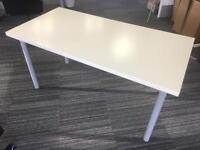 IKEA white effect desk table with silver removable legs