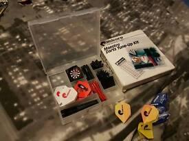 USED Winmau Ted Hankey Dart Board & 80+ Flights & 19g Darts x18