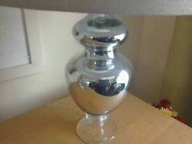Beautiful silver glass lamp