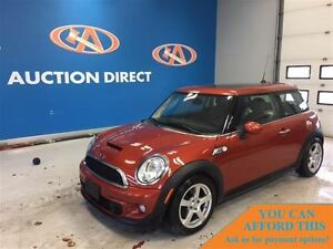 2012 MINI COOPER S S LEATHER, HUGE SUNROOF!
