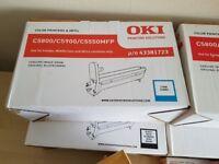 Genuine OKI toners and drums for C5500/C5800/C5900 plus 2 remanufactued