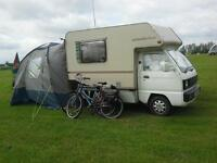 vauxhall bedford rascal bambi motorhome camper and all extras for 2 berth
