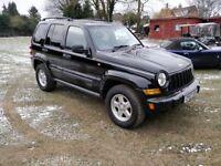 Jeep Cherokee 2.8 TD Sport 4x4 5dr Auto,57 Reg,Leather,Aircon,privacy Glass,CD Player,2 keys,MOT.