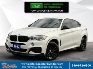 2017 BMW X6 xDrive35i ***NAV, AWD, red leather***